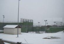 Nieve en el Polideportivo de Torrelodones