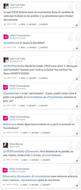 Rifirafe entre VxT y UPyD Torrelodones