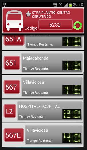 La aplicación Interurbanos de Google Play ya incluye líneas de Torrelodones y Hoyo de Manzanares