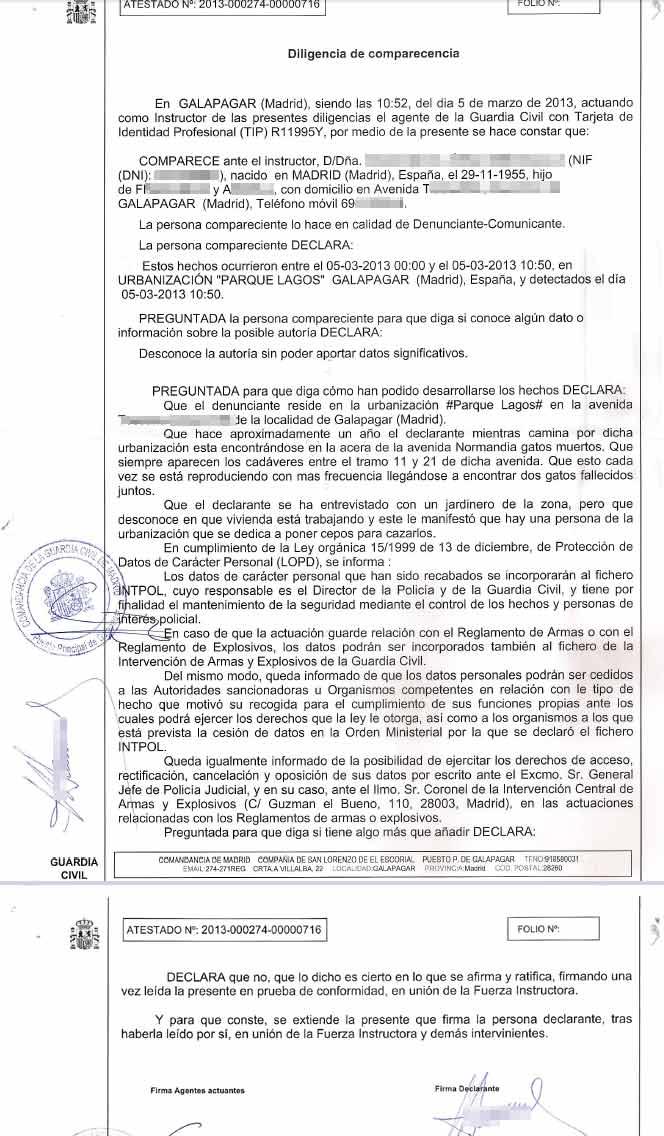 Solicitud al Ayuntamiento de Galapagar para que detenga la matanza de gatos