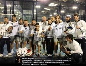 Equipo Pádel People Torrelodones, Campeón de España de Primera (Foto: Twitter de Hernán Auguste)