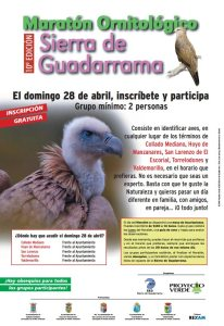 10º Maratón Ornitológico de la Sierra de Guadarrama