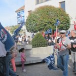 Concentración de protesta de la Policia de Torrelodones