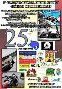 3ª Concentración de Coches y Motos Clásicos de Torrelodones (25-05-2013)