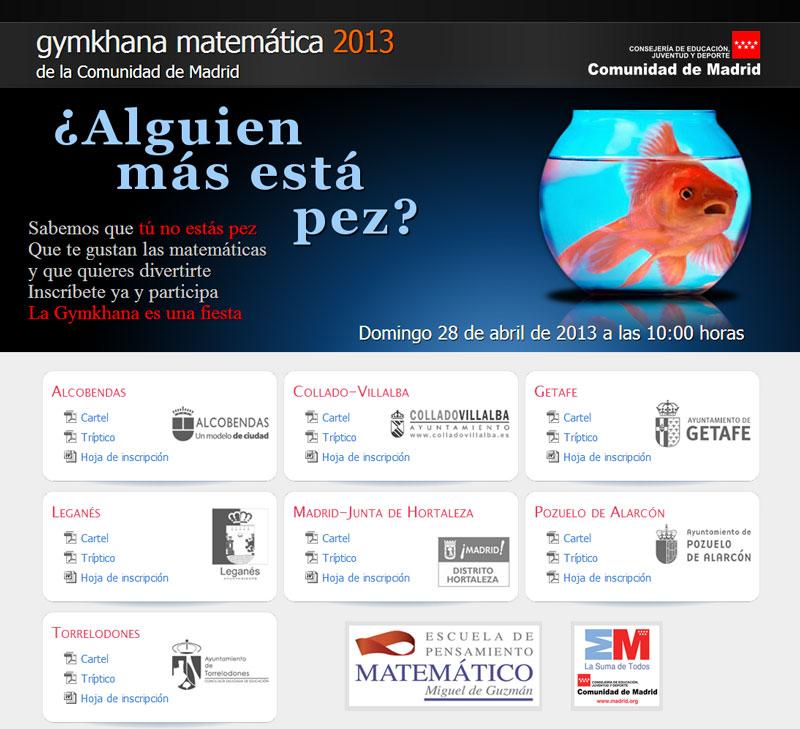 Gymkhana Matemática de la Comunidad de Madrid 2013