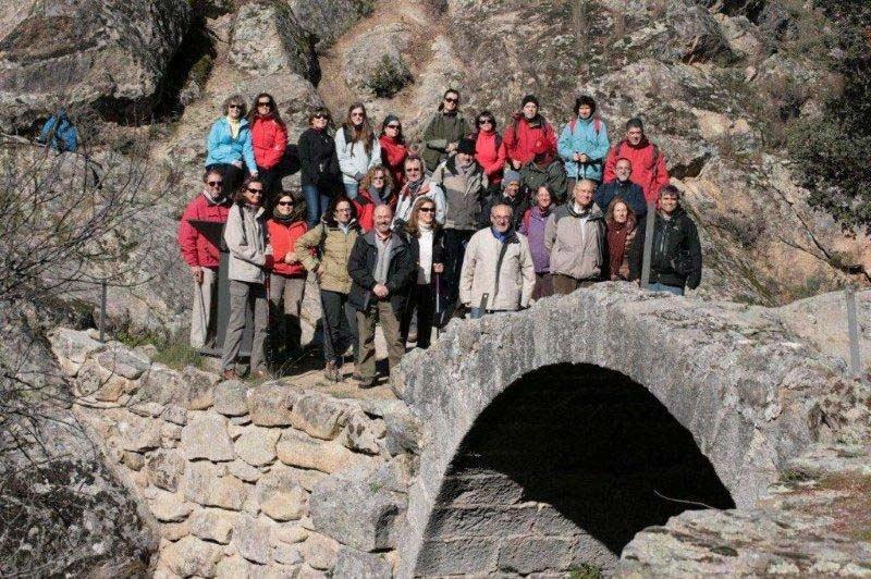 Algunos miembros de la Sociedad Caminera del Real de Manzanares (Foto: S.Caminera)