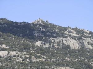 La Peña de La Tortuga, vista desde las ventanas de la Casa Rural