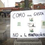 Uno de los carteles colocados durante la protesta de la Policía Local de Torrelodones
