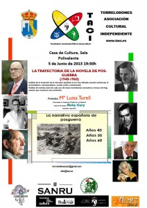 Conferencia Novela de Posguerra TACI - Torrelodones 5-6-2013