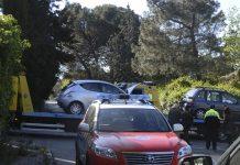 Colisión entre las calles Antonio Lasso y Victoria el pasado día 21-5 por la mañana