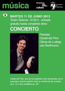 Daniel del Pino en Concierto: Sonatas para piano de Beethoven (Torrelodones 11-6-2013)