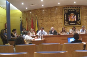 El portavoz del Grupo Popular, Javier Laorden, expone la postura de su grupo durante el Pleno del 17-6-2013