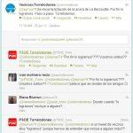 Acera de La Berzosilla -Comentarios en Twitter entre VxT y PSOE