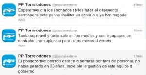 El PP de Torrelodones denuncia que el Polideportivo se ha cerrado el fin de semana por falta de personal