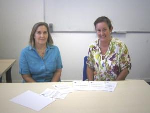 Chelo e Inma, profesoras de Educación para Adultos de Torrelodones