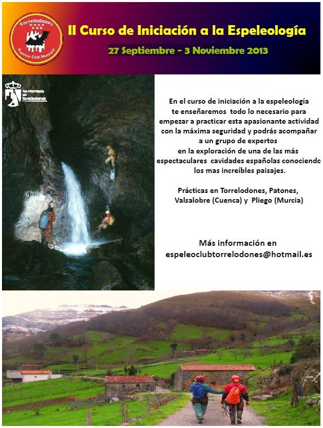 II Curso de Iniciación a la Espeleología, 27 Septiembre - 3 Noviembre 2013