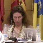 Francesca Milne en el Pleno del Ayuntamiento