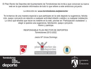 Invitación a participar en el Plan Rector de Deportes de Torrelodones