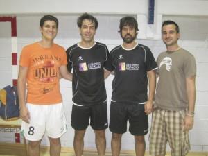 Izquierda a derecha: Oscar Aranda, Juan Werner, Carlos Cano y Sergio Orozco