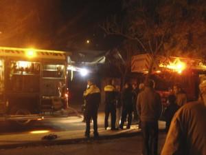 Incendio chalet calle Teodoro Domingo, Torrelodones