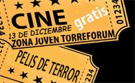 Cine de Terror y palomitas gratis en Torreforum