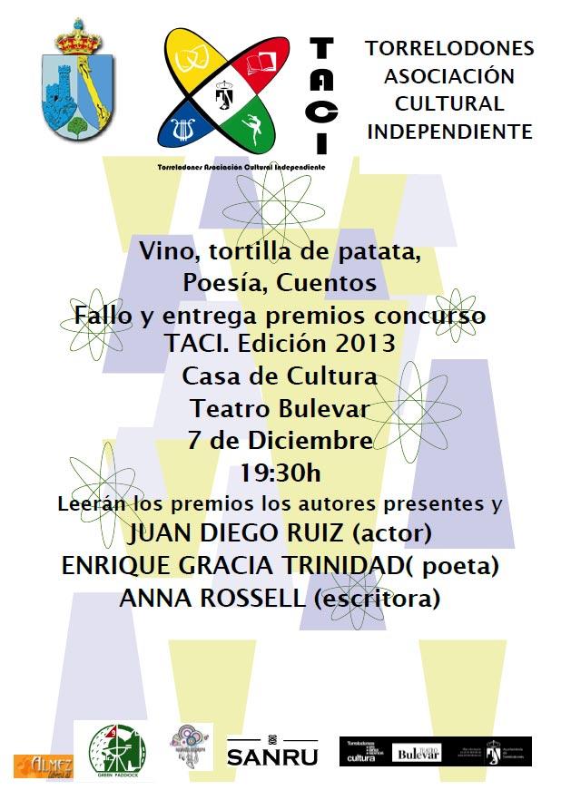 TACI convoca al Fallo y Entrega de Premios de su I Concurso de Poesía y Narrativa breve