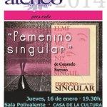 """Libro de Poemas """"Femenino Singular"""" de Consuelo Barroso"""