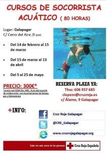 Curso de Socorrista Acuático - Cruz Roja Galapagar - Colmenarejo