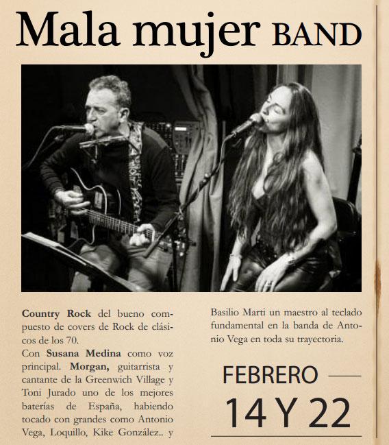 Mala Mujer Band en Marboré (Torrelodones) 14 y 22 de febrero 2014
