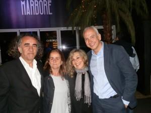 Teo y María (Cómplices), con Mireya Vernis y con Rafa Arango (dueño de Marboré)