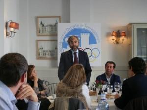D. Pablo Salazar, en el almuerzo-coloquio con el sector del deporte de Torrelodones