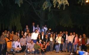El PP de Torrelodones antes de comenzar a pegar carteles para las europeas 2014