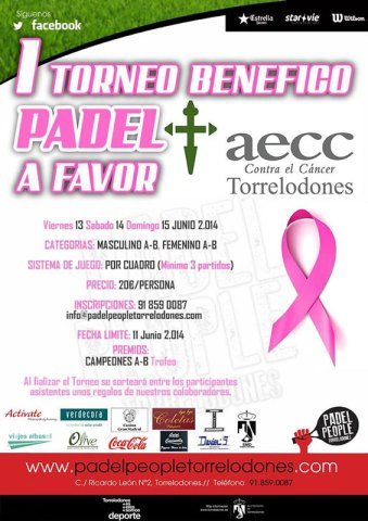 Primer Torneo de Pádel Benéfico a favor de AECC Torrelodones.