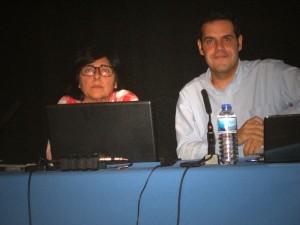 Archivera Municipal de Torrelodones, Antonia Criado, y Abraham Matesanz