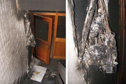 Un rayo cayó sobre el Centro de Cultura de Hoyo de Manzanares