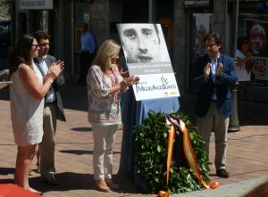 Homenaje a Miguel Ángel Blanco en Galapagar, a 17 años de su secuestro y asesinato por ETA