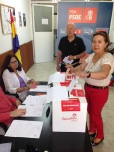 Votación de los Socialistas de Torrelodones del domingo 13 de julio 2014