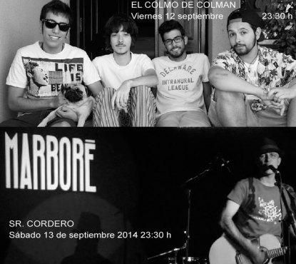 Viernes 12/9/2014: El Colmo de Colman, y el Sábado 13, el Sr. Cordero, en Marboré Torrelodones