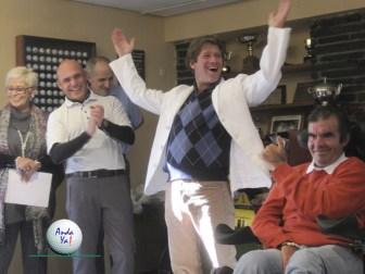 """Ganador de la primera edición del Torneo de Golf """"Anda ya"""" y Gonzalo Chinchilla"""