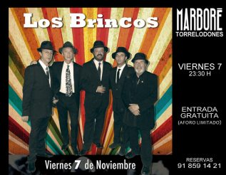 Los Brincos en directo, viernes 7 de noviembre 2014, en Marboré Torrelodones