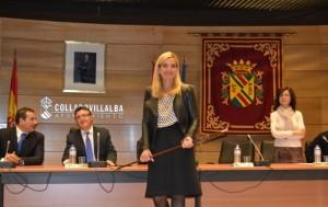 Mariola Vargas, médico de profesión, se ha convertido esta mañana en la primera alcaldesa de Collado Villalba (Foto: Ayto. C. Villalba)