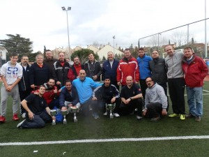 Algunos de los jugadores del I Torneo de Navidad de Fútbol 7 de Torrelodones