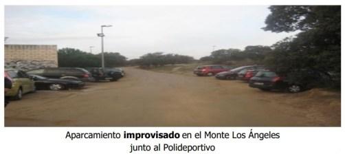 Aparcamiento en Monte Los Ángeles de Torrelodones (Foto: Grupo Municipal acTÚa)