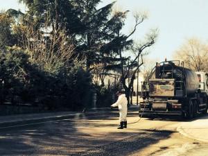 Asfaltado de la carretera de La Navata (Galapagar)