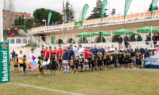 """Las """"hormigas"""" del Torrelodones Rugby Club el Campo Central de la Ciudad Universitaria (Foto: TRC)"""
