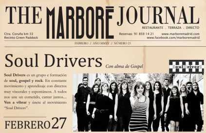 El próximo viernes 27 de febrero 2015 a las 23:30 h, los Soul Drivers desbordarán Marboré