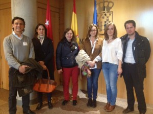 Vecinos de Parquelagos con UPyD Galapagar en la Asamblea de Madrid