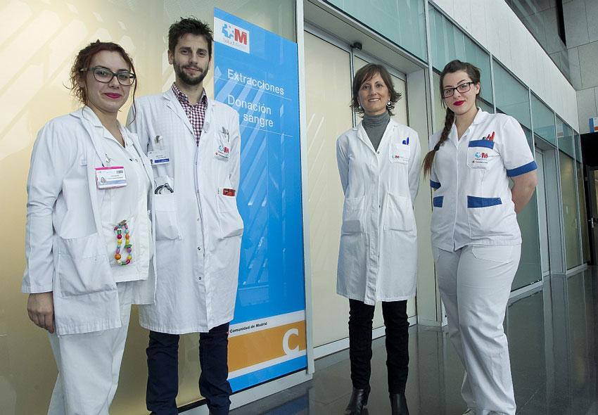 Equipo de la Unidad de Donación de Sangre del Hospital General de Villalba