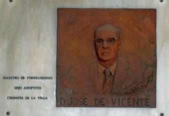 D. José de Vicente Muñoz, Maestro y Cronista Oficial de Torrelodones