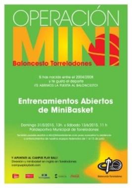 Entrenamientos abiertos de MiniBasket de Baloncesto Torrelodones